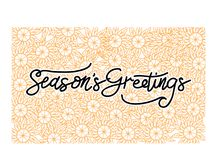 Season`s Greetings Template Vector. Isolated Royalty Free Stock Photos