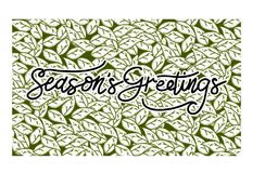 Season`s Greetings Template Vector. Isolated Royalty Free Stock Photography