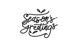 Season`s Greetings Template Vector. Isolated Royalty Free Stock Image