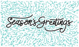 Season`s Greetings Template Vector. Isolated Royalty Free Stock Images