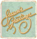 SEASONS GREETINGS vintage card (vector) Stock Photography