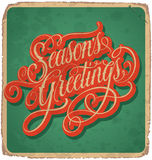 SEASONS GREETINGS vintage card () Royalty Free Stock Photo