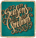 SEASONS GREETINGS vintage card () Stock Photography