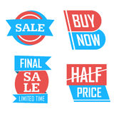 Season sale badges and tags design  set for banners, promotional brochures, discount posters, shopping Flyer, clearance Adve Royalty Free Stock Images