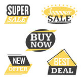 Season sale badges and tags design  set for banners, promotional brochures, discount posters, shopping Flyer, clearance Adve Stock Photos