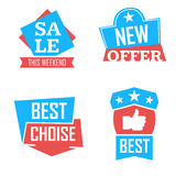 Season sale badges and tags design  set for banners, promotional brochures, discount posters, shopping Flyer, clearance Adve Stock Photo