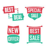 Season sale badges and tags design  set for banners, promotional brochures, discount posters, shopping Flyer, clearance Adve Royalty Free Stock Photo