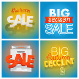 Season sale banners set. Different sale banners Stock Images