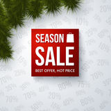 Season sale design template. Stock Photography