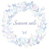 Season sale marketing poster, banner, promotion Royalty Free Stock Photos