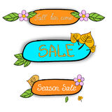 Season sale stickers Royalty Free Stock Image