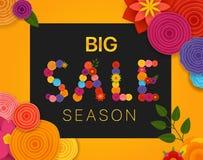 Season sale vector concept. Discount banner Royalty Free Stock Photo