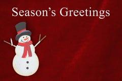 Season& x27; saludos de s que saludan Foto de archivo libre de regalías