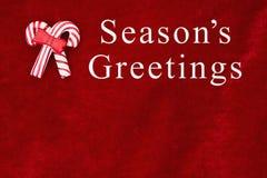 Season& x27; saludos de s que saludan Imágenes de archivo libres de regalías