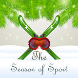 The season of sport Goddles and skiing Stock Image