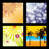 Season squares Stock Photography