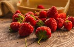 Season of strawberries stock photography
