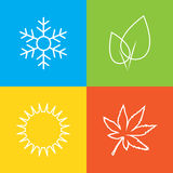 Season symbols Royalty Free Stock Images