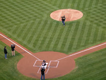 Season Ticket holder throws out the first pitch Stock Photography