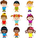 Cartoon funny happy kids Royalty Free Stock Photos