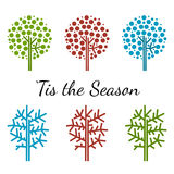 Season tree icons Royalty Free Stock Images
