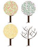 Season tree illustration Royalty Free Stock Photos