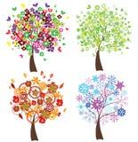 Season trees Stock Photos