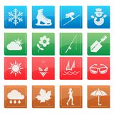 Season weather icon set Royalty Free Stock Image