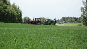 Season work fertilizing stock footage