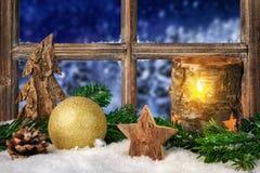 Seasonal arrangement on the window sill Royalty Free Stock Photos