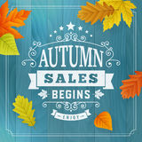 Seasonal autumn business sales background Royalty Free Stock Photo