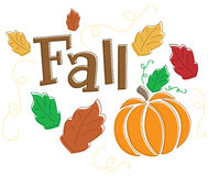 Seasonal Autumn/Fall Graphic Royalty Free Stock Image
