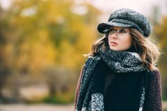 Seasonal autumn fashion stock photos