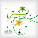 Seasonal autumn greeting card, minimal design Stock Photography