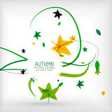 Seasonal autumn greeting card, minimal design Royalty Free Stock Photo