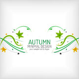 Seasonal autumn greeting card, minimal design Stock Photo