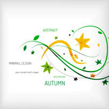 Seasonal autumn greeting card, minimal design Royalty Free Stock Photography