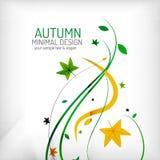 Seasonal autumn greeting card, minimal design Stock Photos
