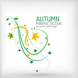 Seasonal autumn greeting card, minimal design Stock Image