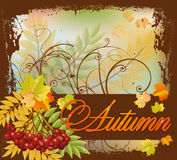 Seasonal autumn postcard Stock Images