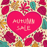 Seasonal autumn sale background with vector. Royalty Free Stock Photography