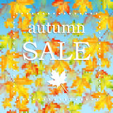 Seasonal autumn sale Stock Photography