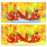 Seasonal autumn sale Stock Images