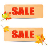 Seasonal autumn sale Royalty Free Stock Photography