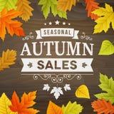 Seasonal autumn sales business background Royalty Free Stock Photos
