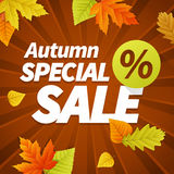 Seasonal autumn sales business background Royalty Free Stock Images