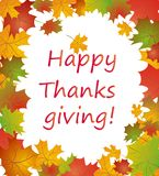 Seasonal autumnal greeting Royalty Free Stock Photos
