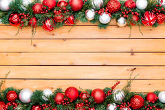 Seasonal background featuring pine and berry Stock Photos