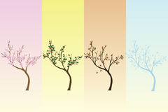 Seasonal background with trees Royalty Free Stock Images