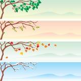 Seasonal banner. Set of four  seasonal banner Stock Images